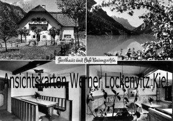 Ansichtskarte Bad Reichenhall Gasthaus und Cafe Baumgarten Bes. Josef Posch