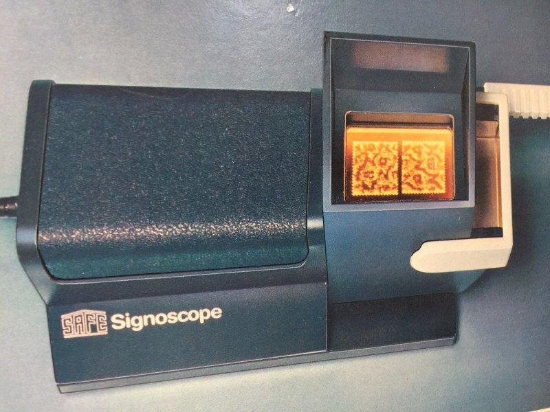 Wasserzeichen Prüfgerät für Briefmarken SAFE Signoscope T1