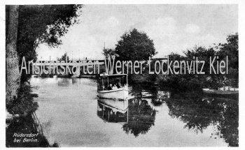Ansichtskarte Rüdersdorf bei Berlin Ausflugsdampfer auf einem See Stienitzsee
