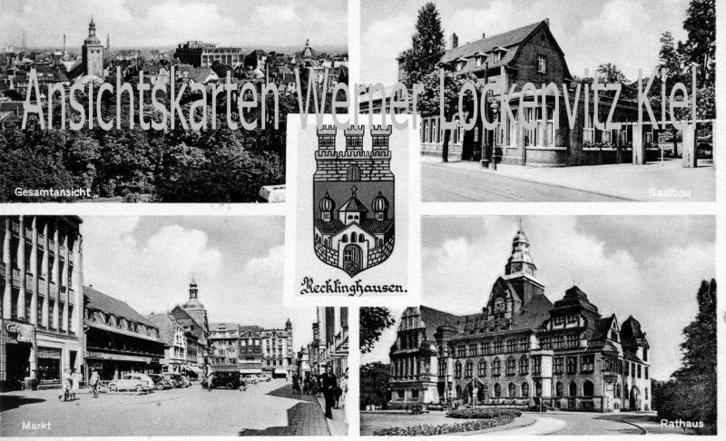 Ansichtskarte Recklinghausen Saalbau Markt Gesamtansicht