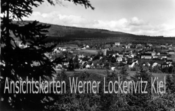 Ansichtskarte Fichtelberg Fichtelgebirge Ortsansicht mit Schneeberg