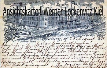 Ansichtskarte Norderney Seehospiz Kaiserin Friedrich