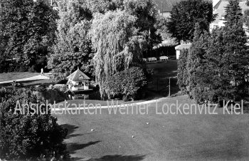 Ansichtskarte Bad Salzschlirf Schwanenhaus und Tennisplätze