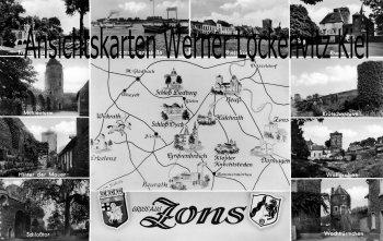 Ansichtskarte Dormagen-Zons Ortsansichten Landkarte