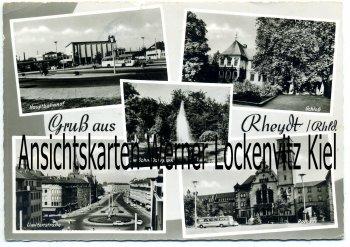 Ansichtskarte Mönchengladbach-Rheydt Hauptbahnhof Limitenstraße