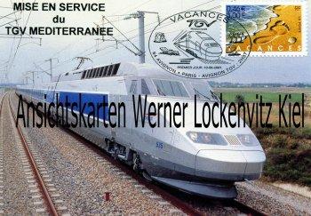 Ansichtskarte Carte Postale Frankreich France Mise en Service TGV Mediterranee