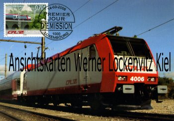 Ansichtskarte Luxemburg Luxembourg Serie CFL 4000 Bombardier Bo Bo