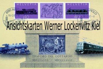 Ansichtskarte Schweiz 100 Jahre Gotthardbahn