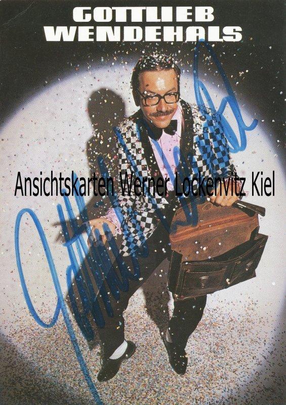 Werner Böhm Gottlieb Wendehals Sänger und Musiker mit Originalautogramm