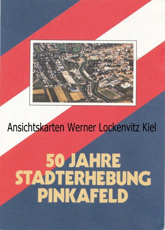 Ansichtskarte Österreich Pinkafeld 50 Jahre Stadterhebung Ballonpost Burgenland