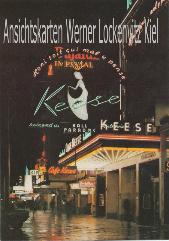 Hamburg-St. Pauli Reeperbahn mit Cafe Keese Foto
