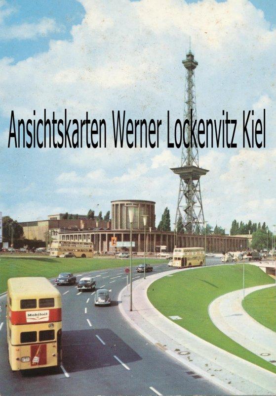 Ansichtskarte Berlin Funkturm mit Stadtautobahn Busse