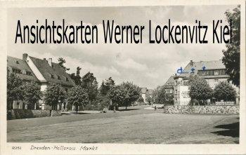 Ansichtskarte Dresden-Hellerau Markt