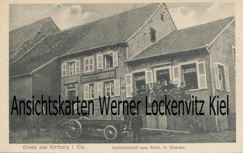Ansichtskarte Carte Postale Frankreich France Kirrberg Gastwirtschaft zum Stern Bes. H. Girardin Bas-Rhin Elsass