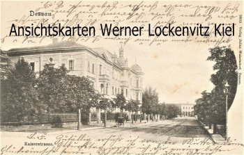 Ansichtskarte Dessau Kaiserstraße