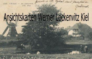 Ansichtskarte Graal-Müritz Am Lehrerteich mit Mühle