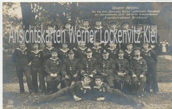 Ansichtskarte Unsere Helden Mannschaft U 9 Kapitänleutnant Weddigen U-Boot