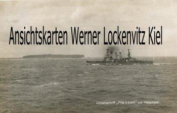 Ansichtskarte Linienschiff Hessen vor Helgoland