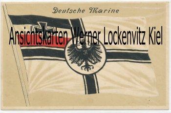 Ansichtskarte Deutsche Marine Fahne Flagge Prägedruck