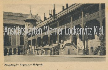 Ansichtskarte Königsberg Калинингра́д Kaliningrad Eingang zum Blutgericht