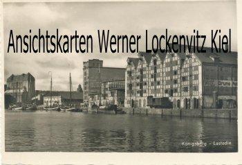 Ansichtskarte Königsberg Калинингра́д Kaliningrad Lastadie Verladekai