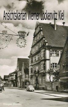 Ansichtskarte Ehingen Donau Straßenansicht mit Schild Gasthof zum Rad