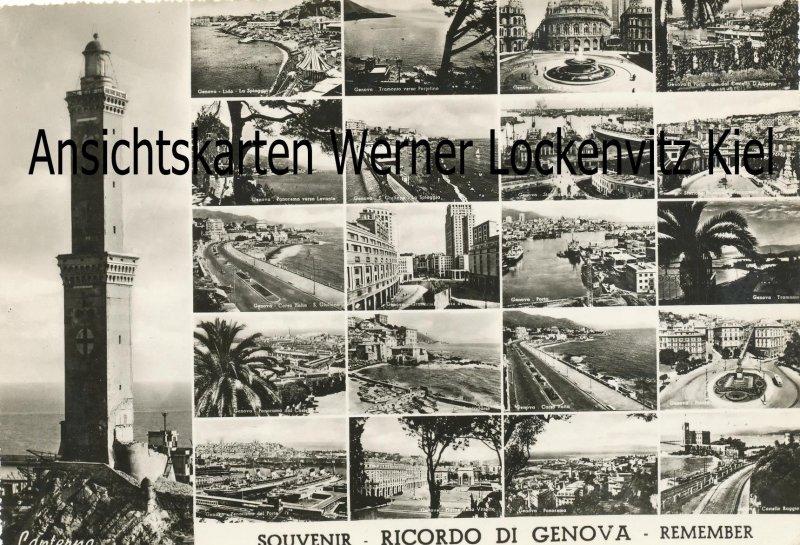 Ansichtskarte Cartolina Postale Italien Italia Ricordo di Genua Genova