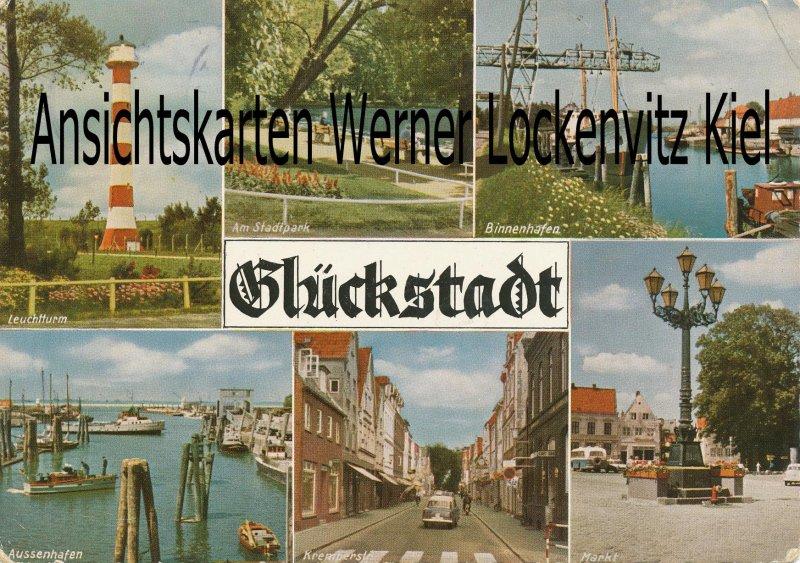 Ansichtskarte Glückstadt Leuchtturm Kremperstraße Hafen