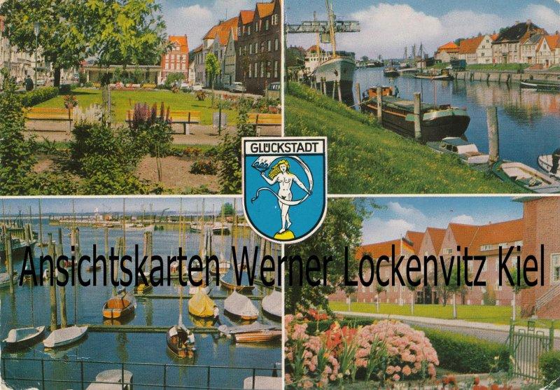Ansichtskarte Glückstadt Park Hafen