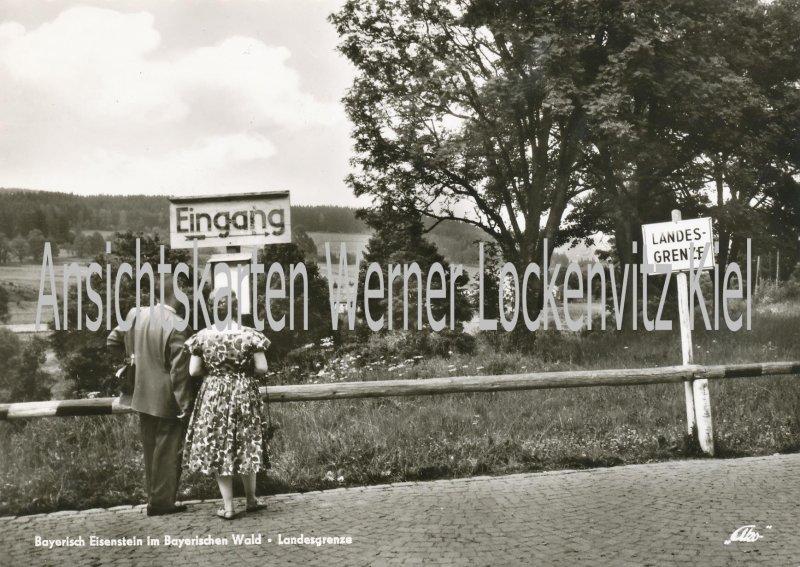 Ansichtskarte Bayerisch Eisenstein Landesgrenze