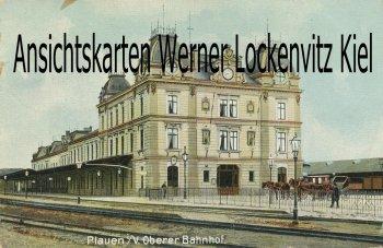 Ansichtskarte Oberer Bahnhof in Plauen