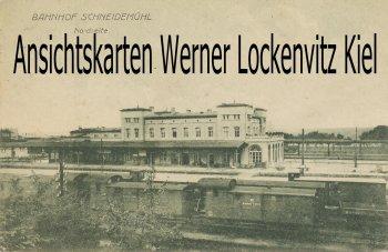 Ansichtskarte Polen Posen Schneidemühl Pila Bahnhof Nordseite