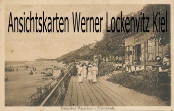 Ansichtskarte Russland Ostpreußen Rauschen Swetlogorsk Promenade mit Erholungs-Halle Kurhaus