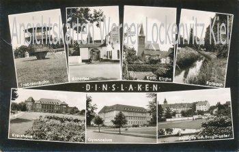Ansichtskarte Dinslaken Trabrennbahn Gymnasium