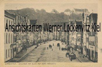 Ansichtskarte Landshut Neustadt mit Blick auf Trausnitz