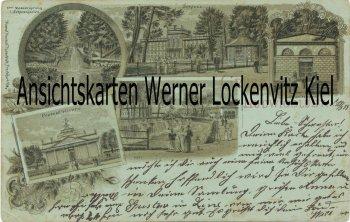 Ansichtskarte Ludwigslust Schloss Cascaden Protestkirche