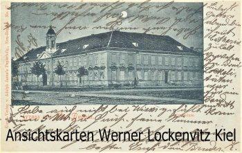Ansichtskarte Neuruppin Gymnasium Mondscheinkarte