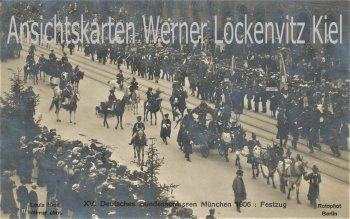 Ansichtskarte München 15. Deutsches Bundesschiessen 1906 Festzug