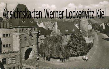 Ansichtskarte Mayen Eifel Brückentor mit Mühlenturm und Ringstraße