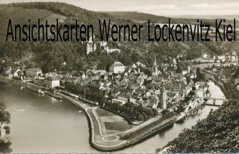 Ansichtskarte Wertheim am Main Ortsansicht mit Taubermündung in den Main