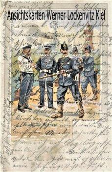 Ansichtskarte Preuss. Seebataillon Uniform