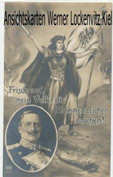 Ansichtskarte Wilhelm II. Ansprache des Kaisers an das Deutsche Volk