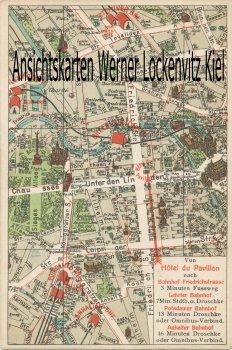 Ansichtskarte Berlin Landkarte Stadtplan Hotel du Pavillon Mittelstrasse