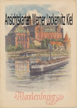 Ansichtskarte Polen Marienburg Malbork Gemälde sign. sign. Ritschar