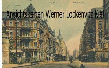 Ansichtskarte Polen Schlesien Gleiwitz Gliwice Wilhelmstrasse mit Straßenbahn und Cafe Kaiserkrone