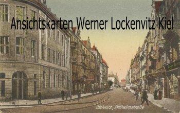 Ansichtskarte Polen Schlesien Wilhelmstrasse mit Geschäft von Gebr. Baras in Gleiwitz Gliwice