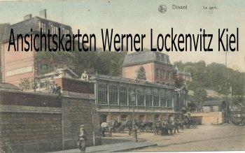 Ansichtskarte Belgien Dinant La gare Namur K. D. Feldpoststation Nr. 46