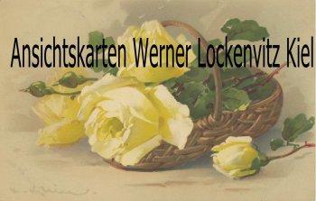 Ansichtskarte Korb mit gelben Rosen Gemälde sign. C. Klein Rosenzauber