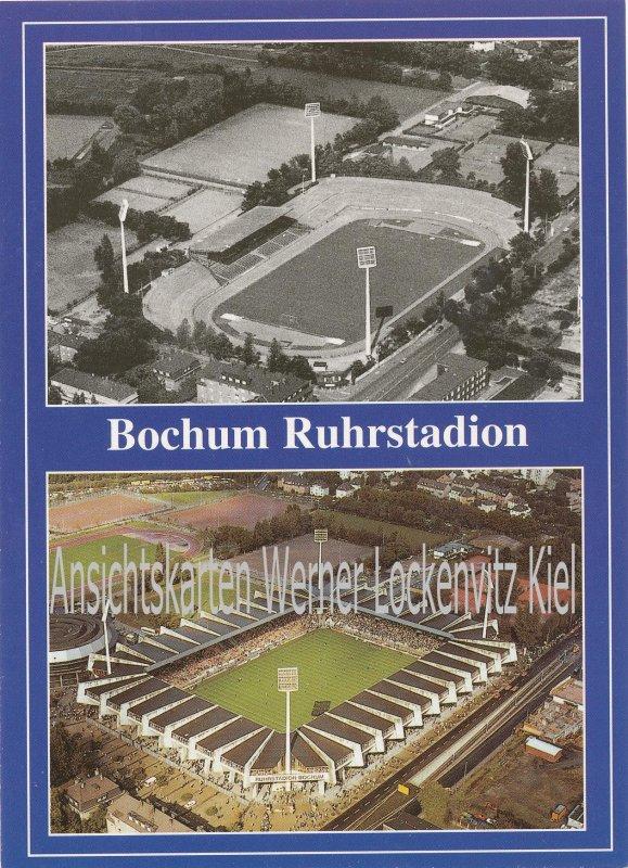 Ansichtskarte Bochum Ruhrstadion Stadion Luftbild