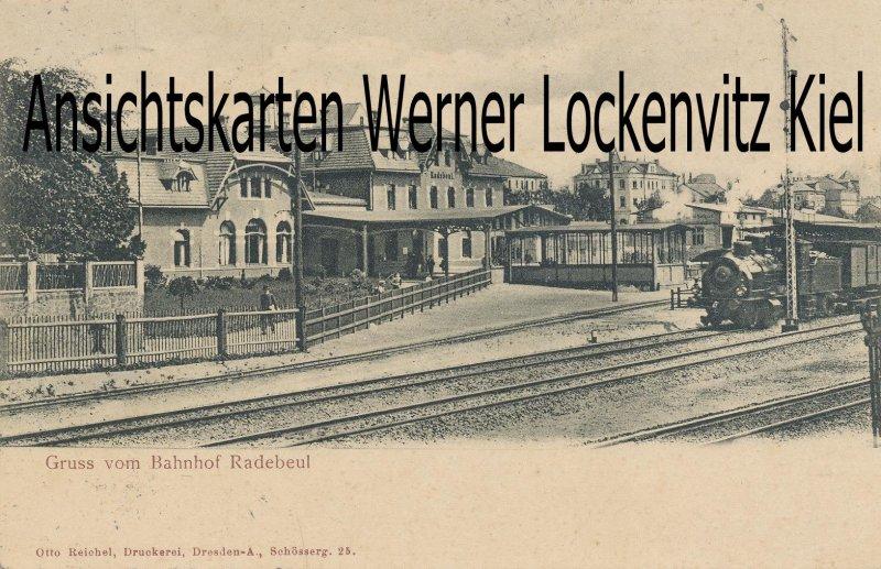 Ansichtskarte Radebeul Bahnhof
